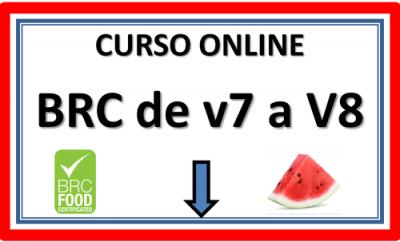 Curso online de BRC Food v7 a v8